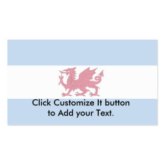 Welsh Colony In Patagonia, Argentina flag Business Card