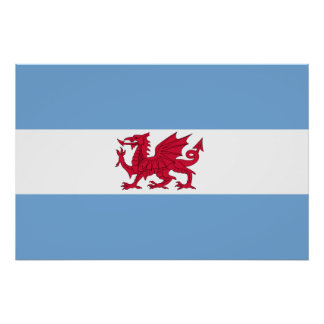 Welsh Colony In Patagonia, Argentina flag Poster
