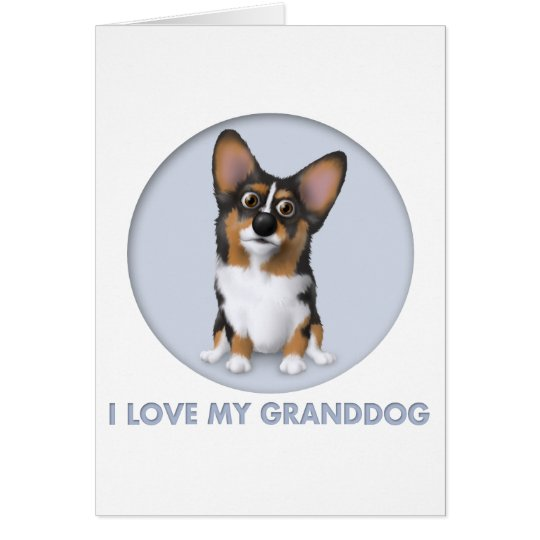 Welsh Corgi 2 Granddog Card