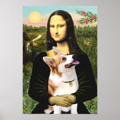 Welsh Corgi 7b Pembroke - Mona Lisa Poster