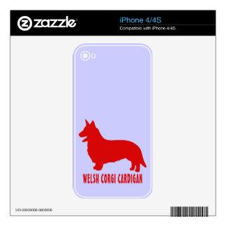 Welsh Corgi Cardigan iPhone 4 Skin