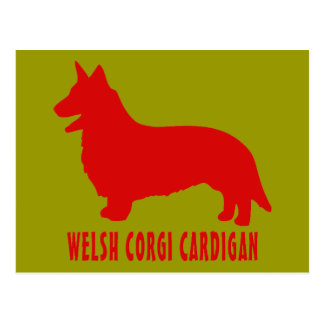 Welsh Corgi Cardigan Postcard