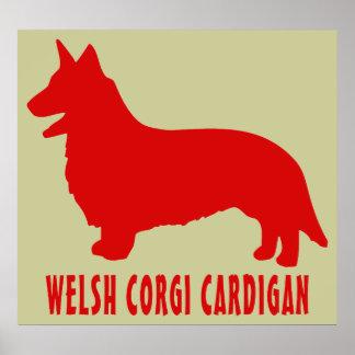 Welsh Corgi Cardigan Poster