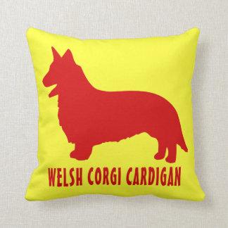 Welsh Corgi Cardigan Throw Pillow