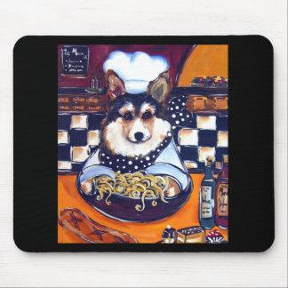 Welsh Corgi Chef Mouse Pad