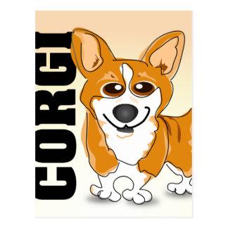 Welsh Corgi Dog Art Postcard