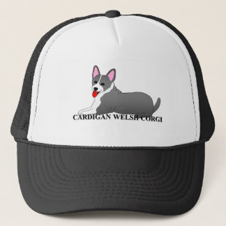 Welsh Corgi Dog Cartoon Trucker Hat