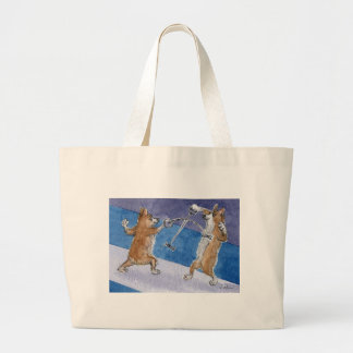 Welsh Corgi dog fencing Canvas Bag