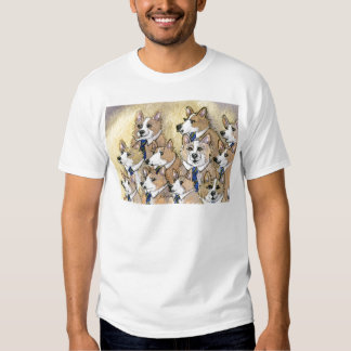 Welsh Corgi dog howl choir T Shirt