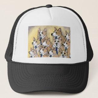 Welsh Corgi dog howl choir Trucker Hat