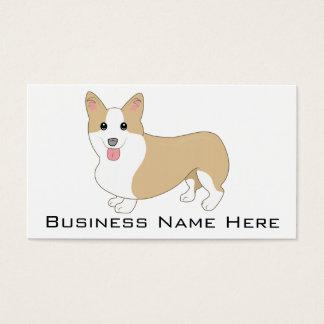 Welsh Corgi Dog Illustration Business Card