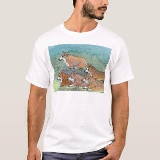 Welsh Corgi dog marathon running T-Shirt