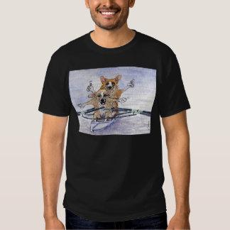 Welsh Corgi dog rowing T-shirt