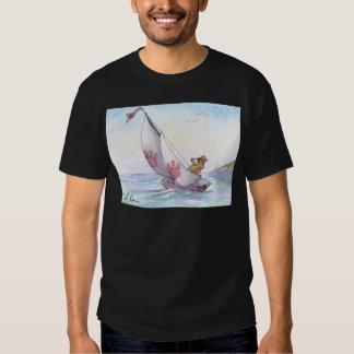 Welsh Corgi dog sailing T Shirt