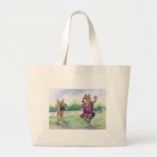 Welsh Corgi dog Scottish dancing Canvas Bag