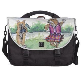 Welsh Corgi dog Scottish dancing Commuter Bags
