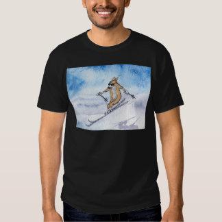 Welsh Corgi dog skiing T-shirt