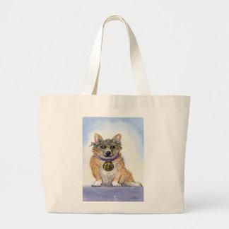 Welsh Corgi dog The Victorious winner Canvas Bags