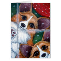 WELSH CORGI DOGS HOLIDAY Card