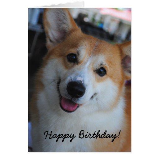 Surprising Welsh Corgi Happy Birthday Card Zazzle Funny Birthday Cards Online Ioscodamsfinfo