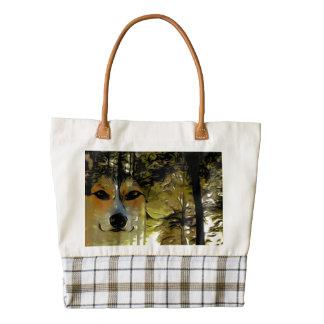 Welsh Corgi in the Woods Zazzle HEART Tote Bag