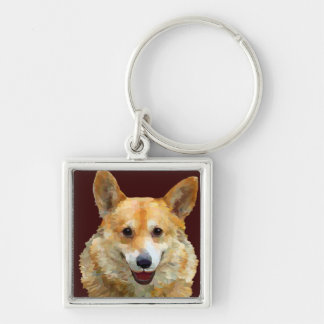 "Welsh Corgi ""Jazz"" Fences For Fido Key Chain"