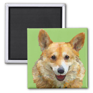 "Welsh Corgi ""Jazz"" Fences For Fido Magnet"