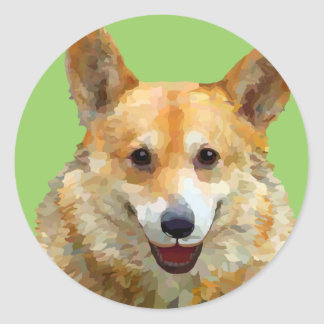 "Welsh Corgi ""Jazz"" Fences For Fido Stickers"