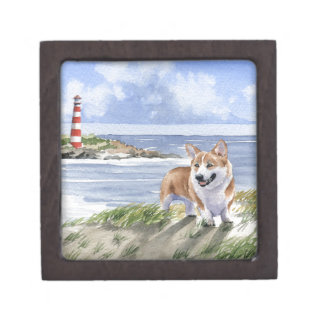 Welsh Corgi Jewelry Box
