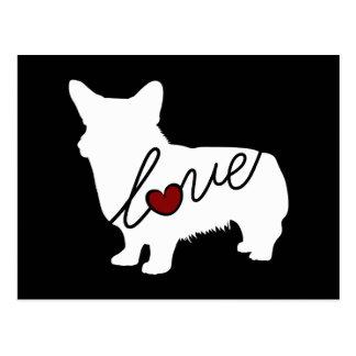 Welsh Corgi Love Postcard