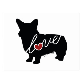 Welsh Corgi Love Postcard