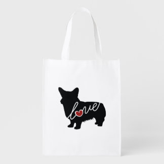 Welsh Corgi Love Reusable Grocery Bag
