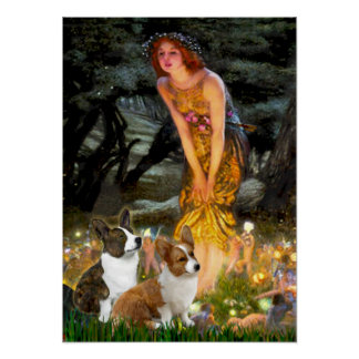 Welsh Corgi Pair - Mideve Poster