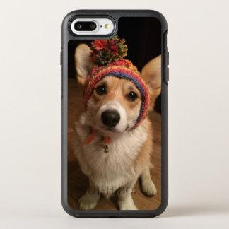 Welsh Corgi Pembroke Wearing A Hand Knitted Hat OtterBox Symmetry iPhone 8 Plus/7 Plus Case