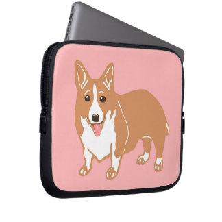 Welsh Corgi Pink Laptop Sleeve