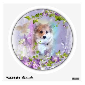 Welsh Corgi Puppy in Spring Wall Sticker