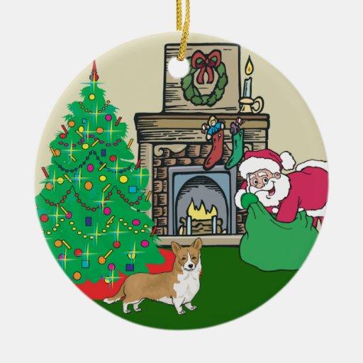 Welsh Corgi Santas Gift Ornament