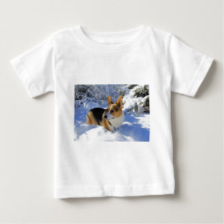 Welsh Corgi Snow Day Baby T-Shirt
