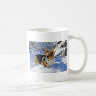 Welsh Corgi Snow Day Coffee Mug