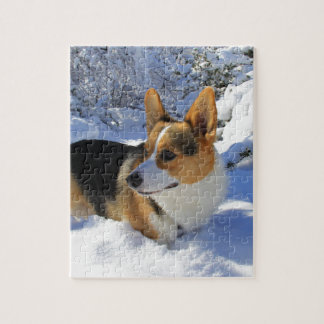 Welsh Corgi Snow Day Jigsaw Puzzle