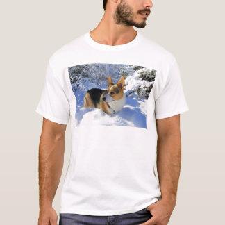 Welsh Corgi Snow Day T-Shirt