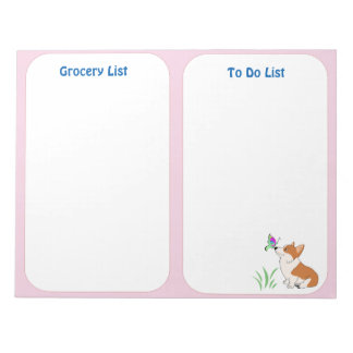 Welsh Corgi To Do List Notepad