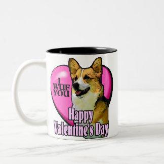 Welsh Corgi Valentine's Day Coffee Mugs