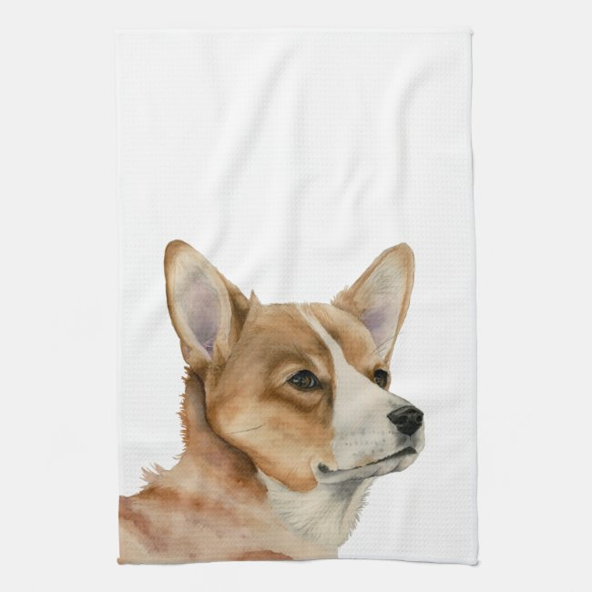 Welsh Corgi Watercolor Painting