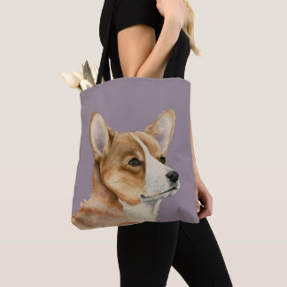 Welsh Corgi Watercolor Painting Tote Bag