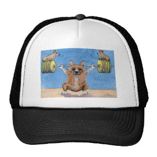 Welsh Corgi weight lifting Trucker Hat