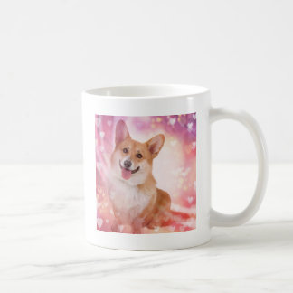 Welsh Corgi with Hearts Coffee Mug