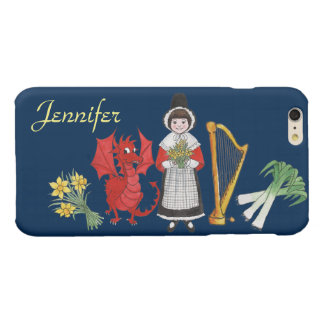Welsh Costume and Emblems, Blue iPhone 6 Plus Case Glossy iPhone 6 Plus Case