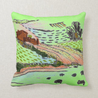 Welsh Countryside by Alexandra Cook Pillow