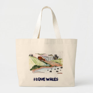 Welsh Countryside Large Tote Bag